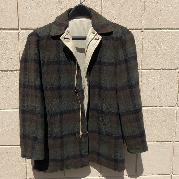 3f573c8d0f1bf Vintage Pendleton Green Plaid Wool Jacket
